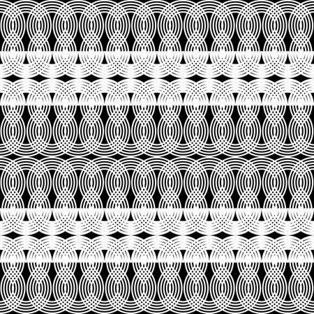 Design seamless waving pattern. Abstract monochrome zigzag background. Vector art Ilustracja