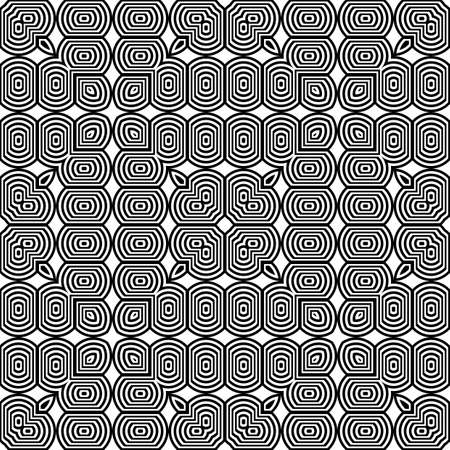 Design seamless monochrome pattern. Abstract geometrical background. Vector art