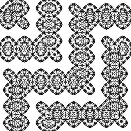Design seamless zigzag decorative pattern. Abstract monochrome grating background. Vector art 向量圖像