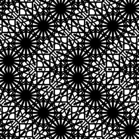Design seamless monochrome zigzag pattern. Abstract geometric background. Vector art