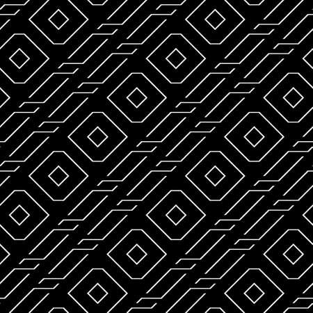 Design seamless decorative pattern. Abstract monochrome geometric background. Vector art