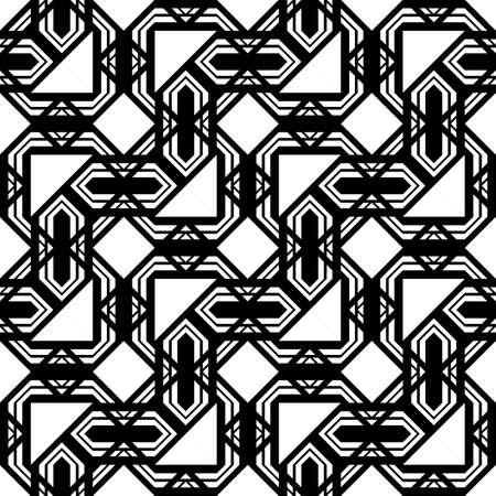 Design seamless monochrome pattern. Abstract geometric background. Vector art