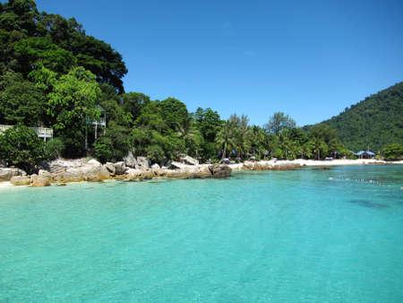 Beautiful nice turquoise coloured sea view.
