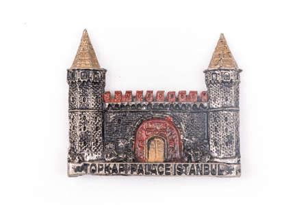 Topkapi Palace of Turkey fridge magnet on a white background Stock Photo