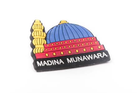 madina: Madina Munawwara dome fridge magnet on a white background