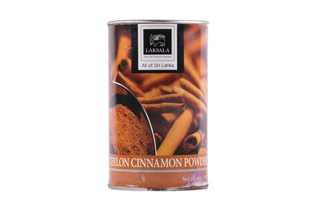 Selangor, Malaysia: February 12, 2018 - Ceylon Cinnamon Powder is a product of Laksala, which is the only State owned Gift & Souvenir Boutique in Sri Lanka.