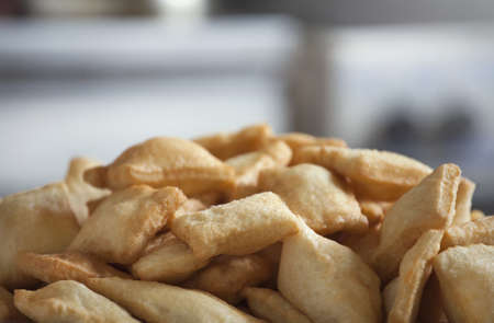 kazakh: Baursaks - Kazakh national food Stock Photo