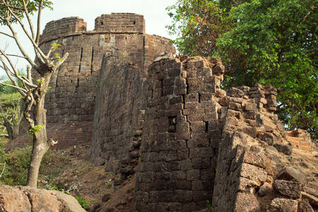 aguada: the old ruined Fort in India