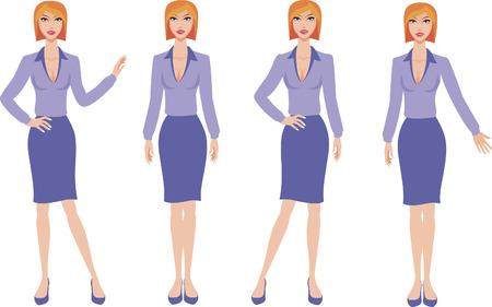 business woman: business woman Illustration