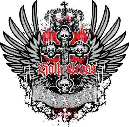 incubus: grunge skull coat of arms