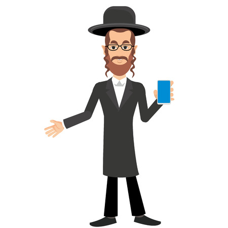 jews: Jew with phone