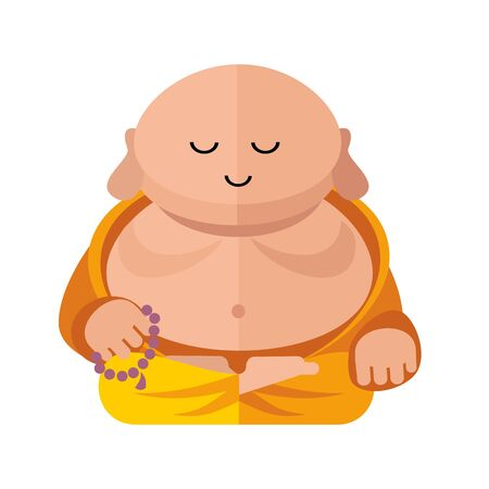 buddist: fat buddha Illustration