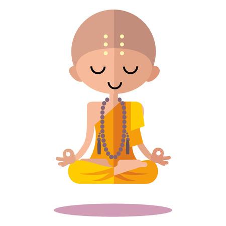 budha: meditating Buddhist monk