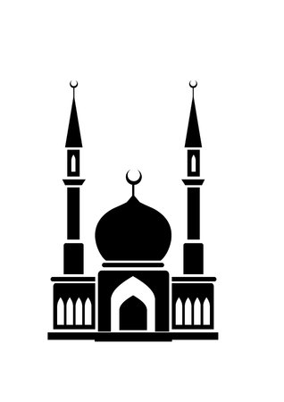 namaz: mosque, religious building a house of worship .. Illustration