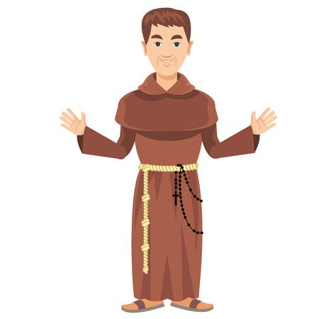sotana: franciscano con una sotana y rosario