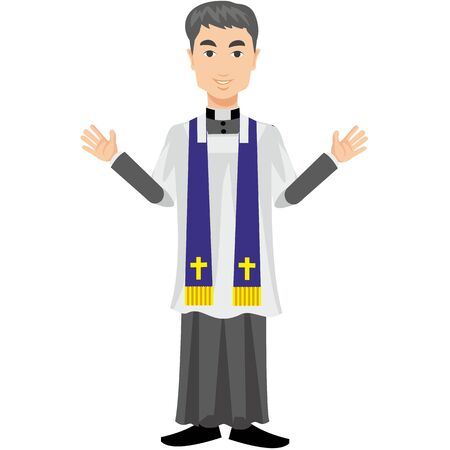 sotana: sacerdote católico en una sotana