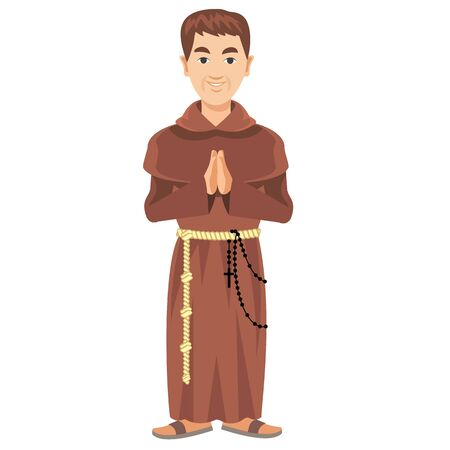 cassock: Franciscan monk in a cassock and rosary