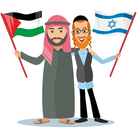 mishnah: Jew with arab with flags