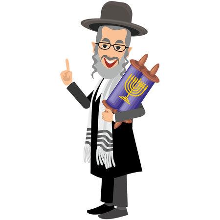 tefillin: Jew with book