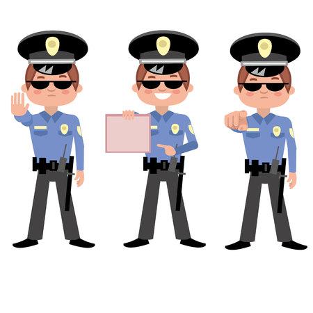flat cop 矢量图像