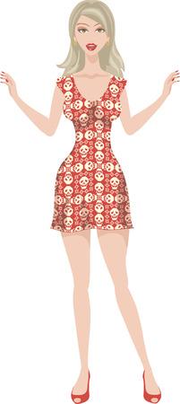 girl skull dress