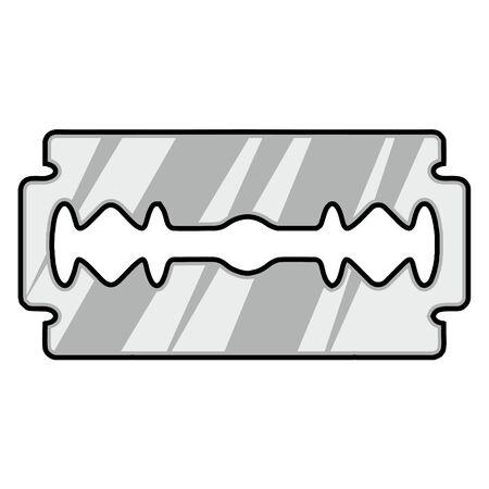 blade: razor blade Illustration