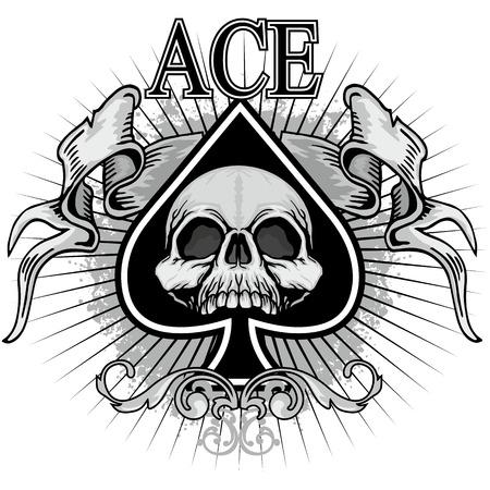 ace of spades met schedel