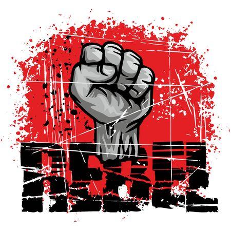rebel-fist t-shirt design