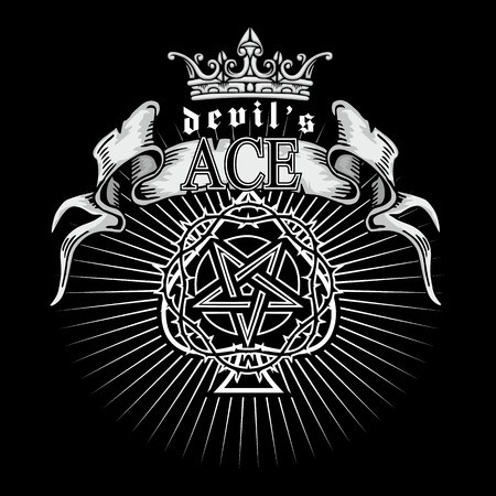 ace of spades with pentagram