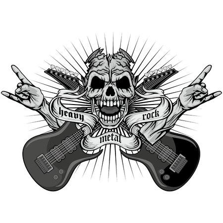 pentagramma musicale: grunge cappotto cranio delle armi