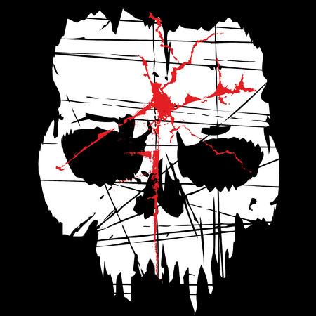 grunge skull coat of arms Zdjęcie Seryjne - 70460175