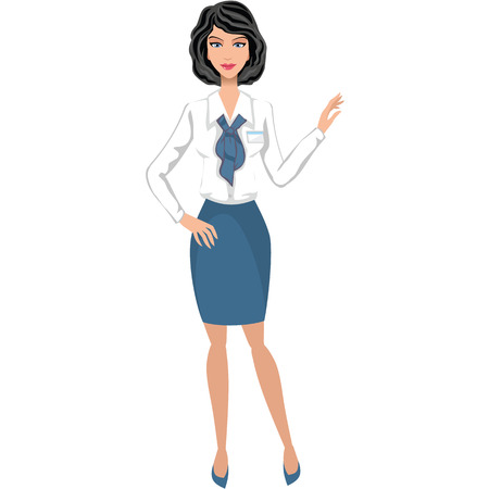 manager: Business woman, secretary, accountant, manager Illustration