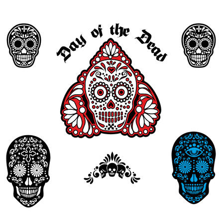 holy death day of the dead mexican sugar skull royalty free