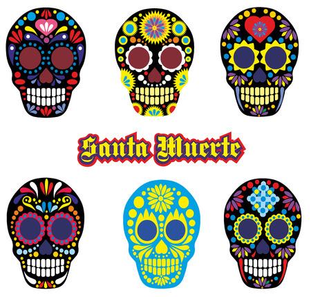 mexican sugar skull 矢量图像