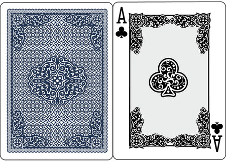 playing card ace of spades vector illustration  イラスト・ベクター素材
