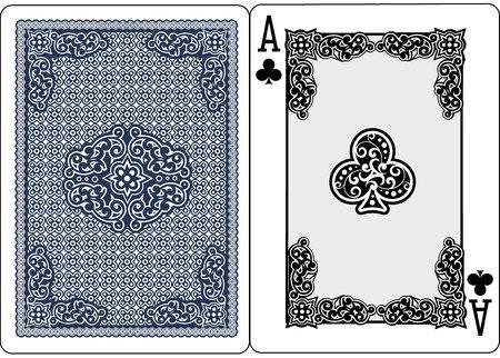 carte à jouer as de pique illustration vectorielle