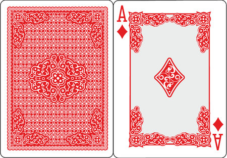 playing card ace of spades vector illustration Archivio Fotografico - 106222212