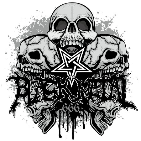 Gothic coat of arms with skull, grunge vintage design t shirts Banque d'images - 114056592
