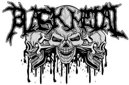 Gothic sign with skull, grunge vintage design t shirts Banque d'images - 114056595