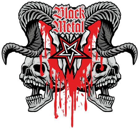 Gothic sign with skull, grunge vintage design t shirts Banque d'images - 114056598