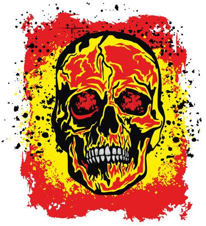 Gothic sign with skull, grunge vintage design t shirts Ilustrace