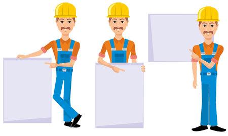 Flat character Ilustrace