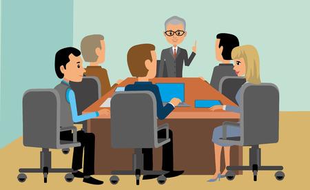 meeting, businessmen, men wome Ilustrace