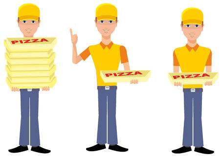 flat bot peddler pizzas