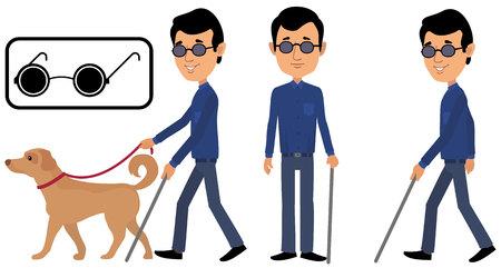 man is blind Ilustrace