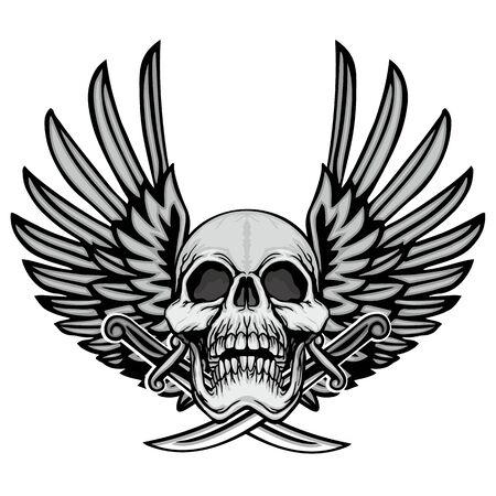 Gothic sign with skull, grunge vintage design t shirts Stok Fotoğraf - 133336496
