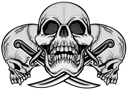 Gothic sign with skull, grunge vintage design t shirts Stok Fotoğraf - 133336497