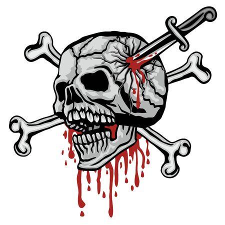 Gothic sign with skull, grunge vintage design t shirts Stok Fotoğraf - 133336501