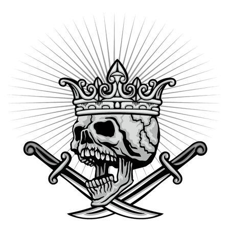 Gothic sign with skull, grunge vintage design t shirts Stok Fotoğraf - 133336504