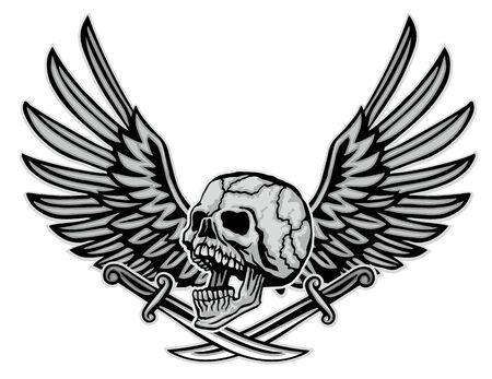 Gothic sign with skull, grunge vintage design t shirts Stok Fotoğraf